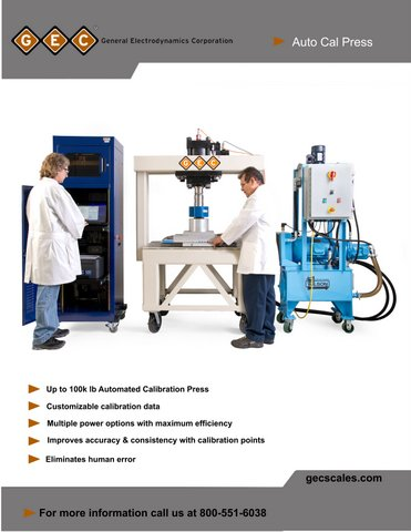 Calibration Presses Brochure